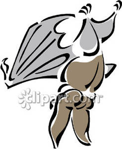 An Upside Down Bat Royalty Free Clipart Picture