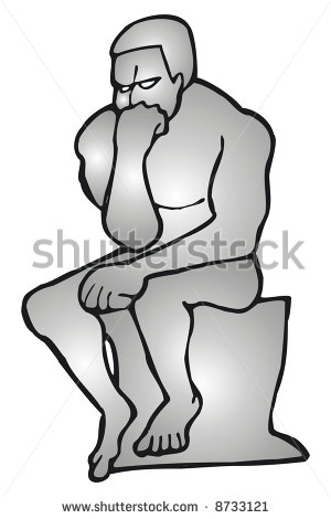 Art Illustration Of The Statue The Thinker   Stock Vector