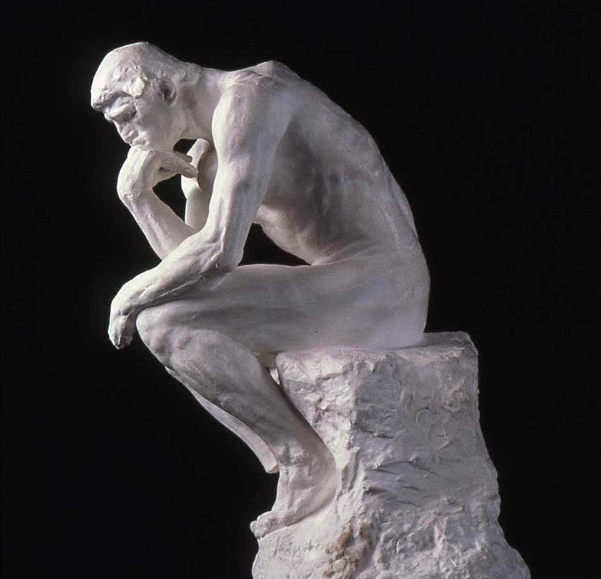 Auguste Rodin  French 1840 1917  The Thinker  1880 Plaster 15