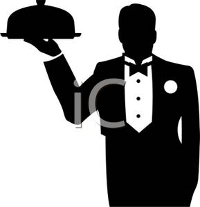 Waiter Tray Clipart - Clipart Suggest
