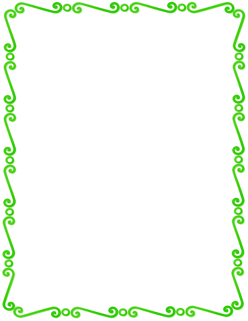 Lime Green Frame Clipart - Clipart Kid