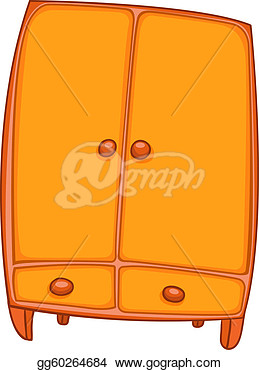 Cartoon Home Furniture Wardrobe  Stock Clip Art Gg60264684   Gograph