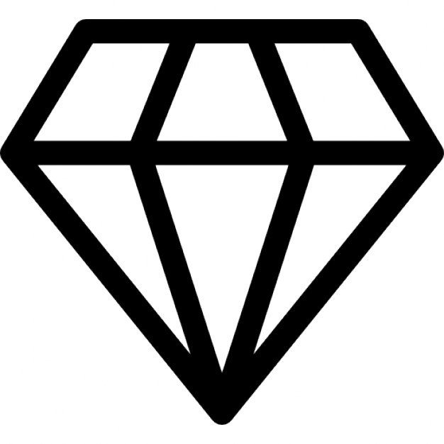 Diamond Shape Outline Diamond Outlined Shape