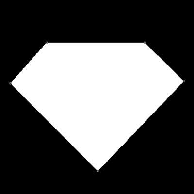 Superman Diamond Outline Clipart - Clipart Suggest