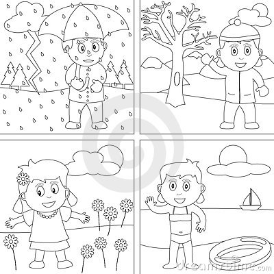 coloring pages for four seasons-#17