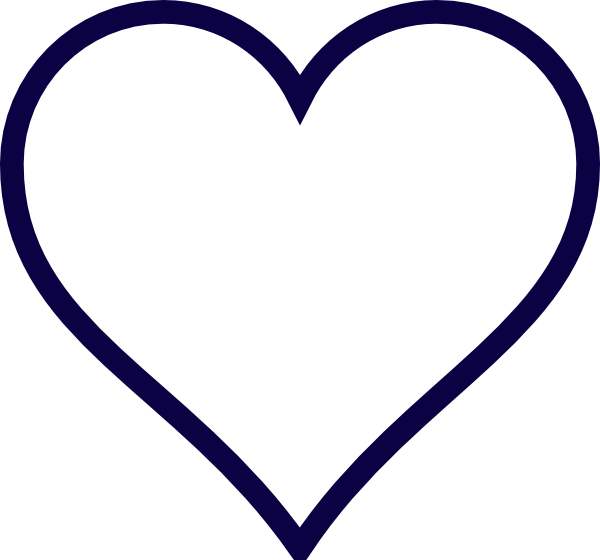 Midnight Blue Outline Heart Clip Art Vector Online Royalty