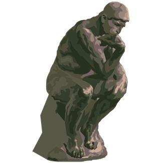 Of Rodin S The Thinker Courtesy Of Microsoft Office Clipart