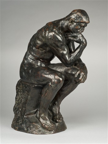 Resembling The Thinker By Auguste Rodin Clipart Illustration Jpg