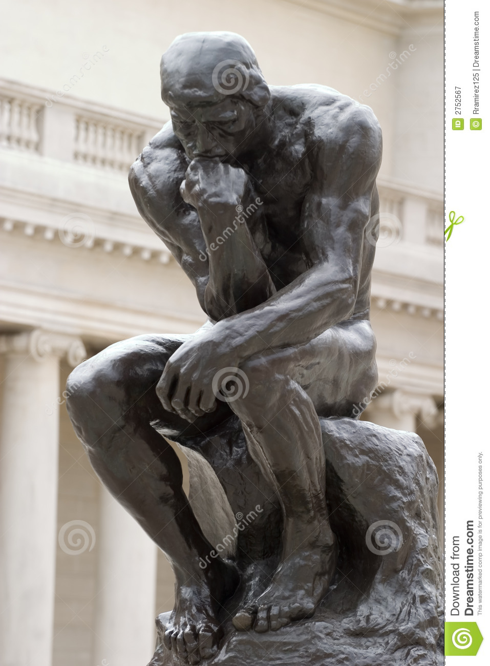 Rodin S Thinker Created By Auguste Rodin At The End Of The 18 Century