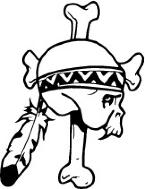 Indian Skull Headdress Coloring Pages