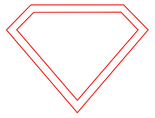 Smaller Diamond Shape To Form The Thick Border Of Superman S Logo