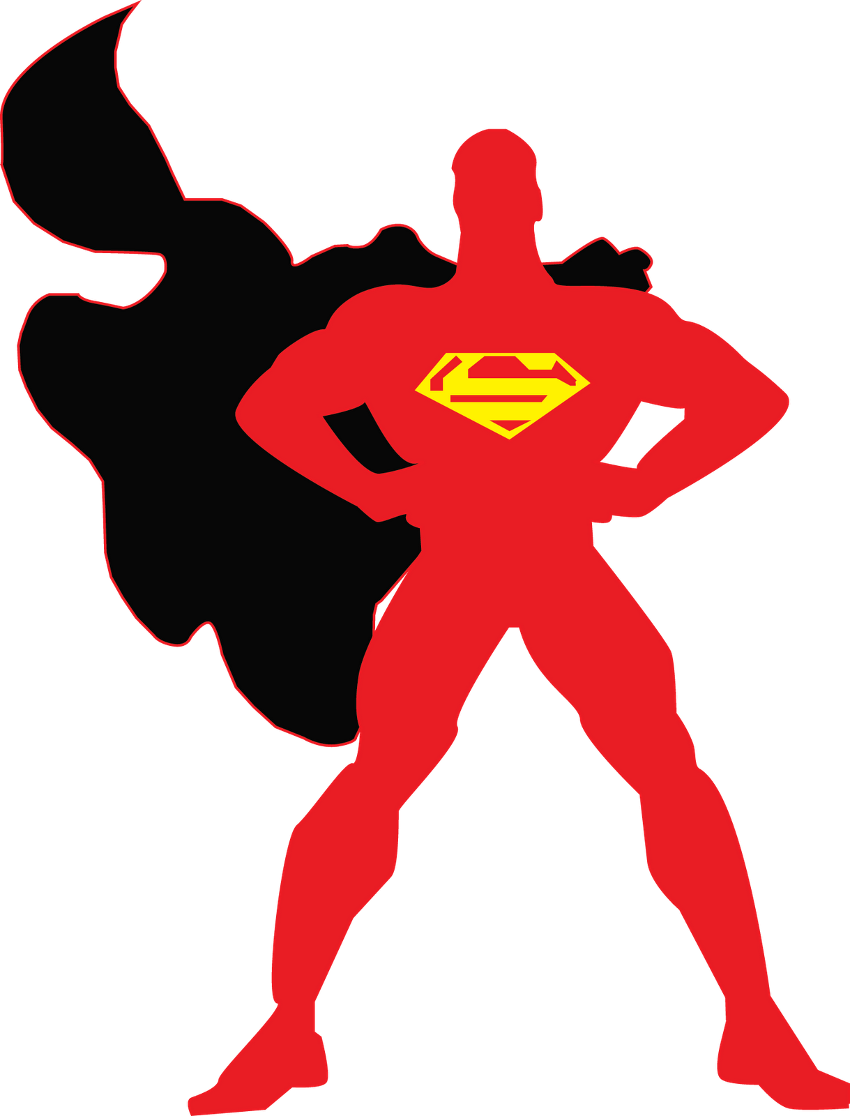 Superman Outline Superman Logo Outline
