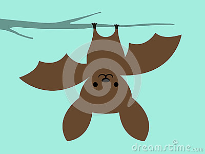 Upside Down Hanging Monkey Clipart Little Bat Hanging Upside Down