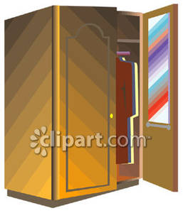 Wooden Wardrobe   Royalty Free Clipart Picture