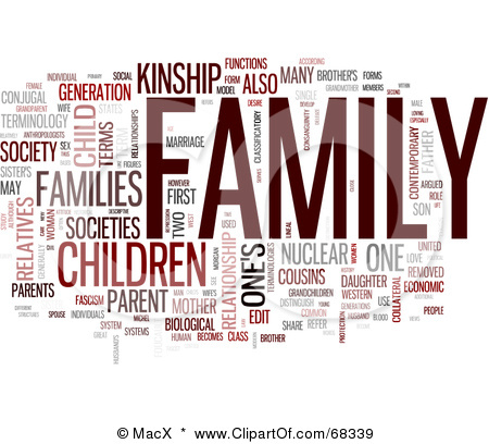 68339 Royalty Free Rf Clipart Illustration Of A Family Word Collage
