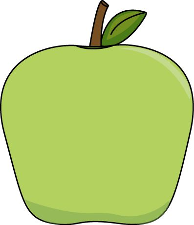 Big Green Apple   Clip Art Fall   Pinterest