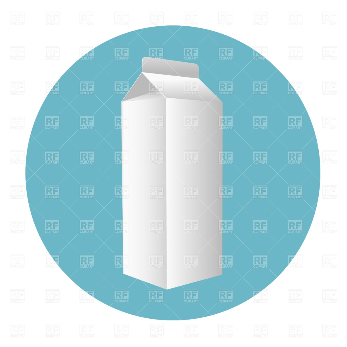 Blank Milk Carton Download Royalty Free Vector Clipart  Eps