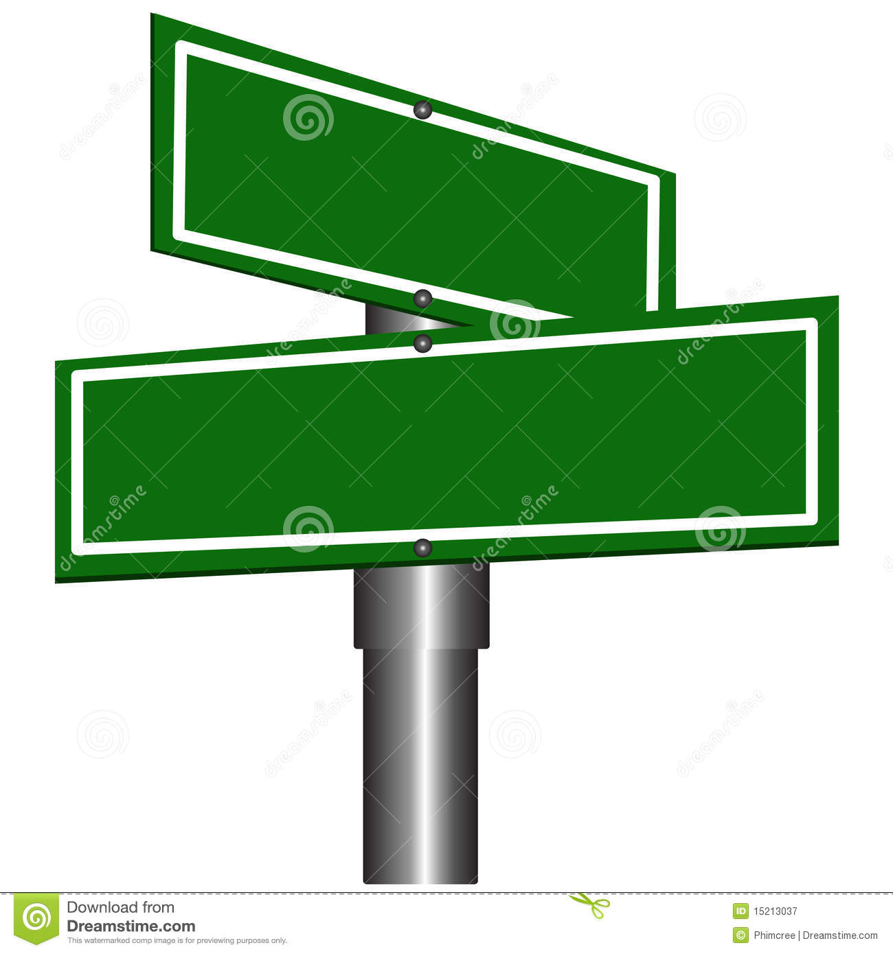 Blank Street Signs Royalty Free Stock Photography   Image  15213037