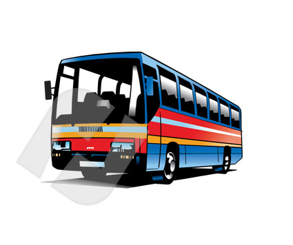 Bus Vector Clip Art   Poweredtemplate Com