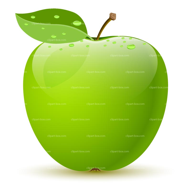Clipart Green Apple   Royalty Free Vector Design