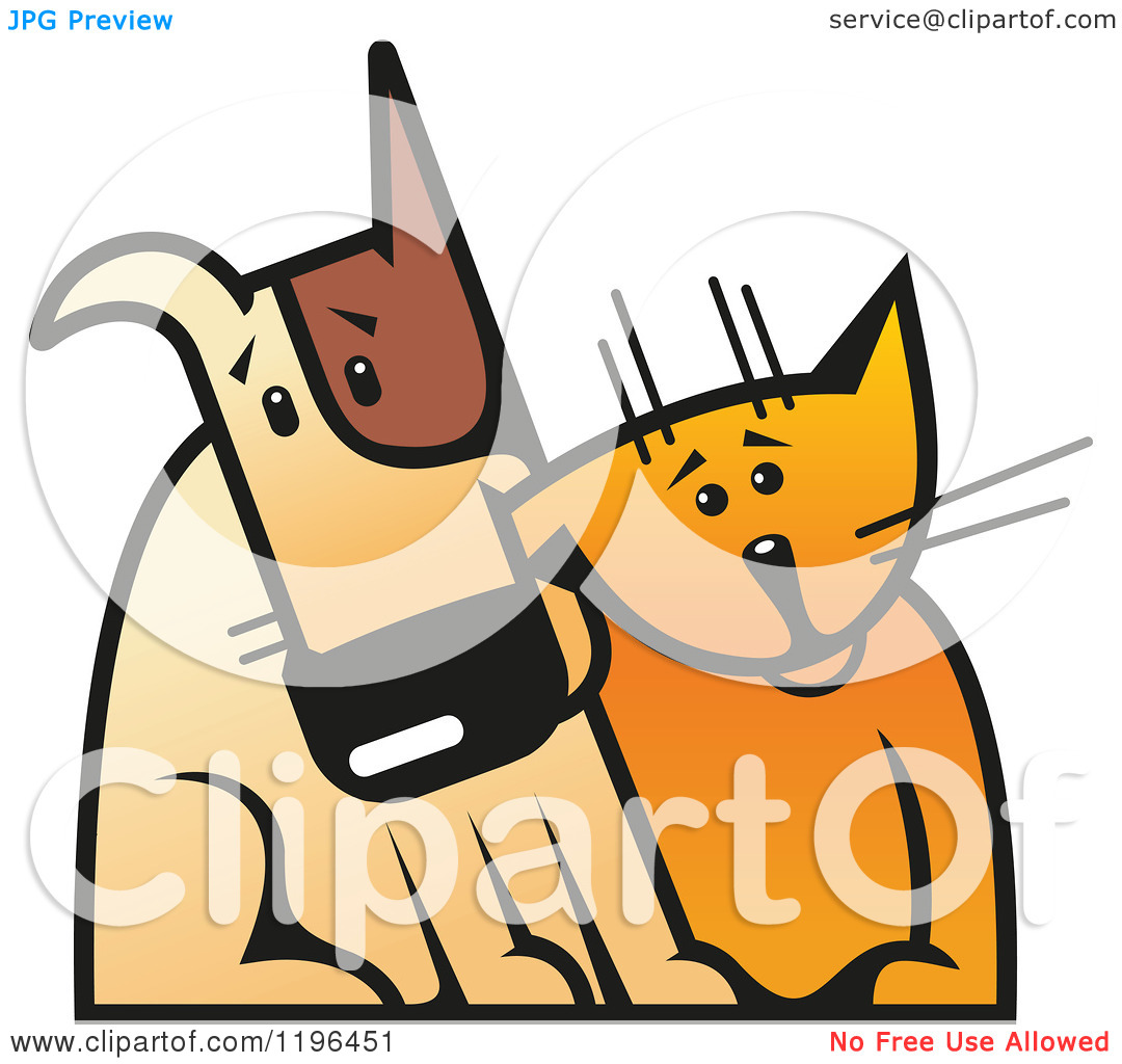 free clipart of dog and cat together - photo #17