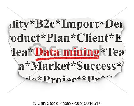 Clipart Of Data Concept  Data Mining On Paper Background   Data