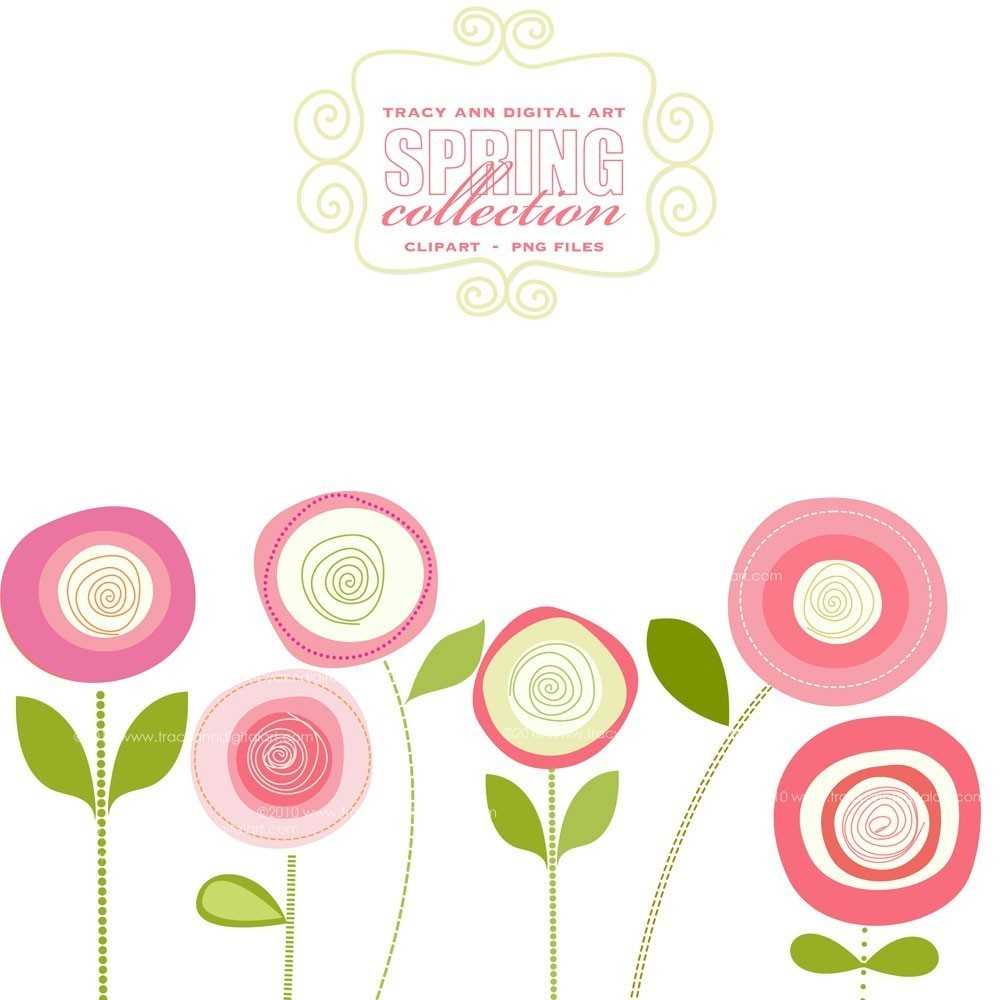 Pink Flower Border Clipart  Clipart Suggest - Flower Hairstyle