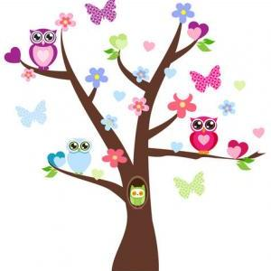 Clip Art Family Owls In Trees Clipart - Clipart Kid