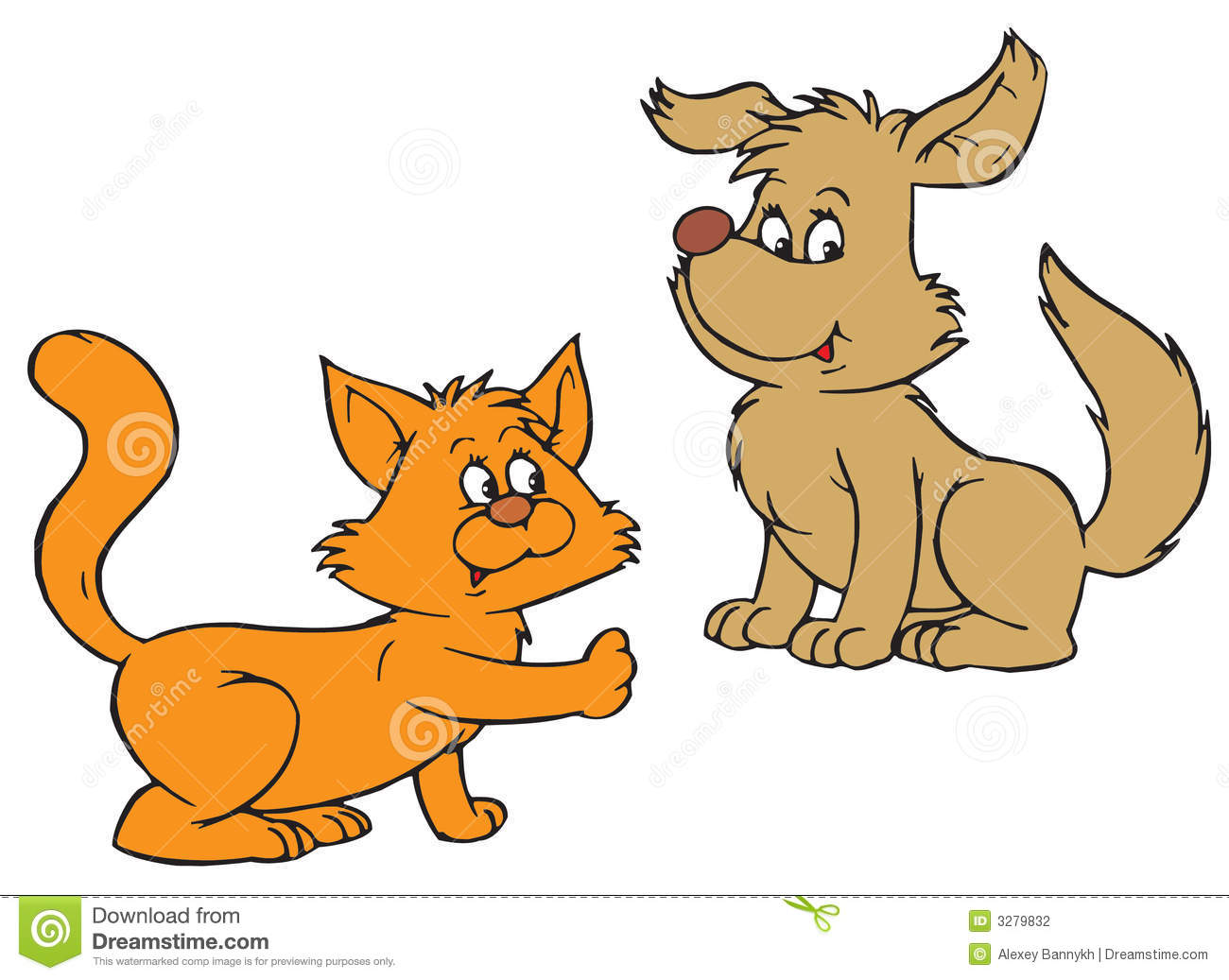 Dog and cat clip art free