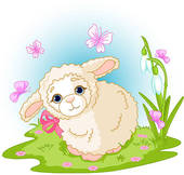Easter Lamb   Clipart Graphic