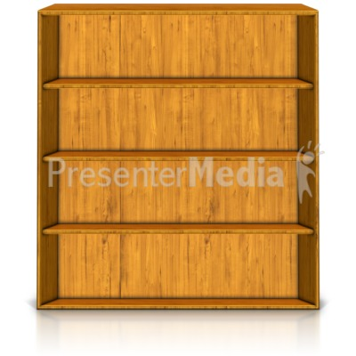 Empty Standing Bookshelf   Education And School   Great Clipart For