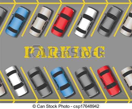 Clip Art Parking Lot Clipart parking lot clipart kid eps vector of cars park in store rows many parked