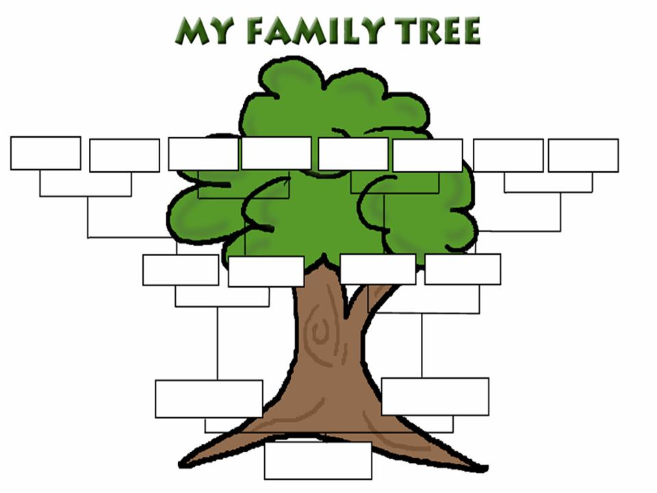 Family Tree Black And White Clipart - Clipart Kid