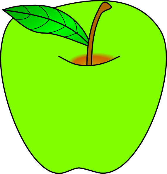 Green Apple Clip Art At Clker Com   Vector Clip Art Online Royalty