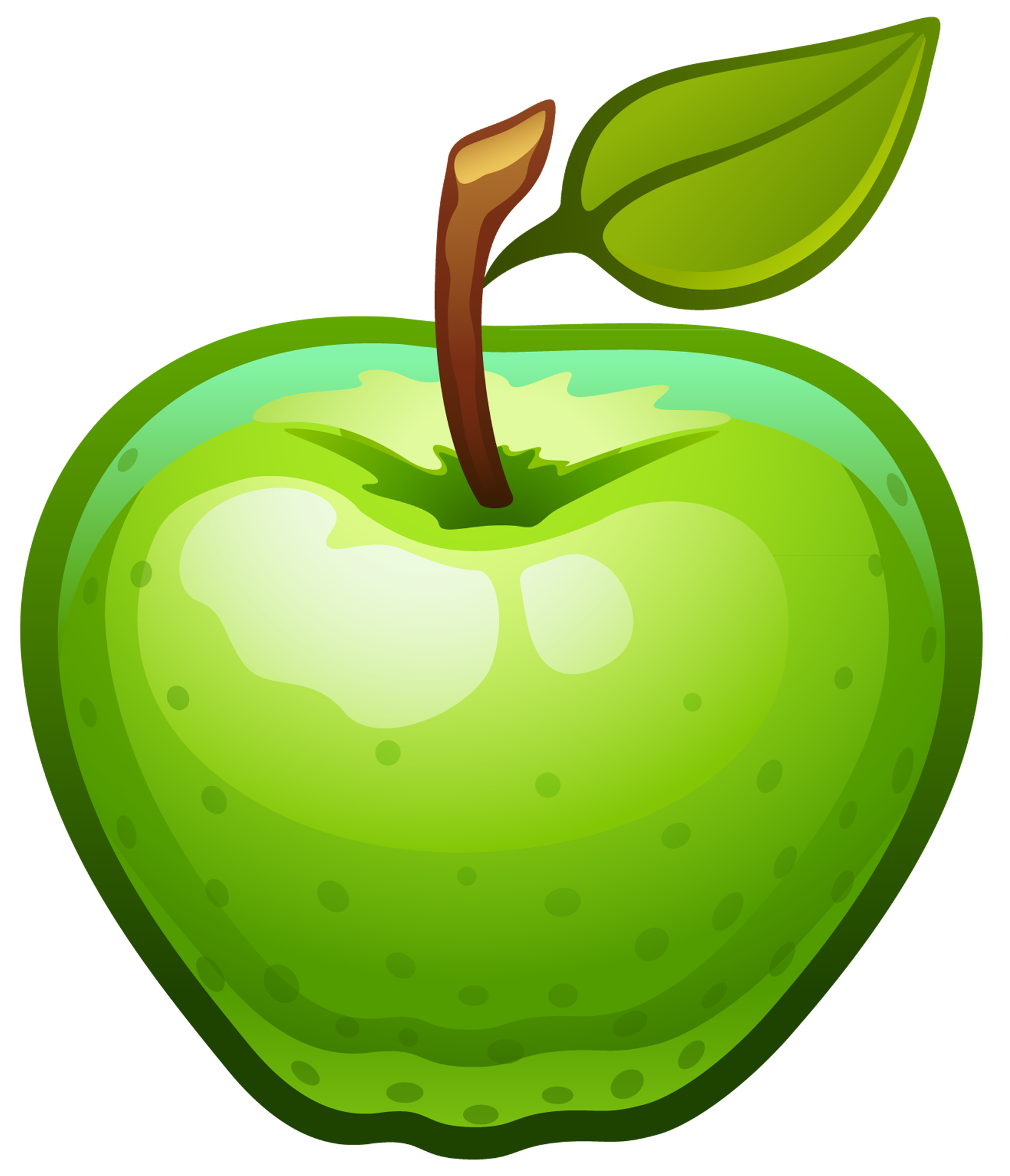 Green Apple Clip Art   Cliparts Co