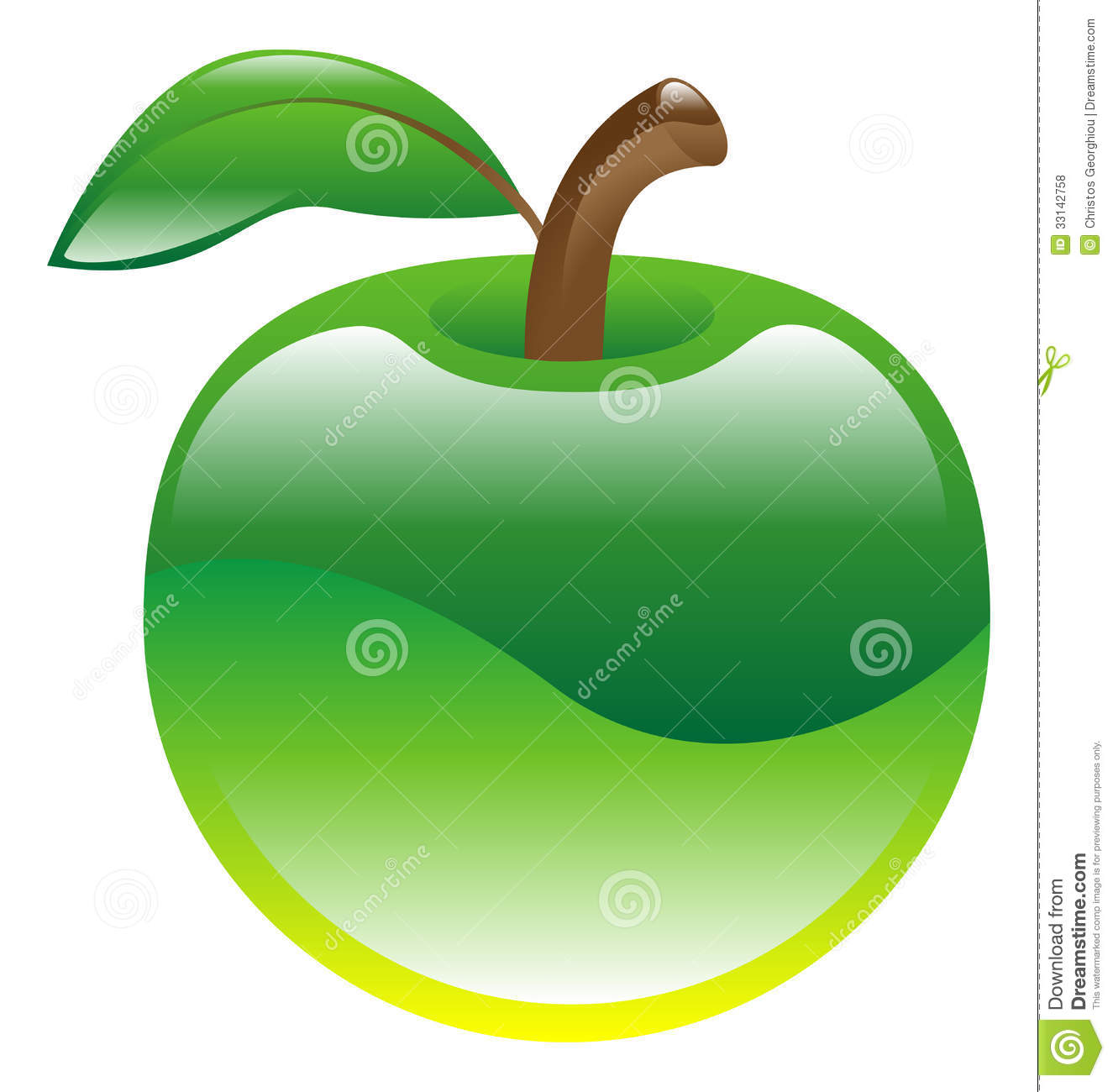 Green Apple Clipart Illustration Apple Fruit Icon Clipart Green