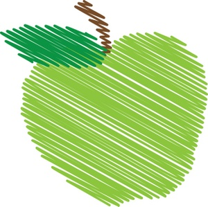 Green Apple Clipart Image  Green Apple
