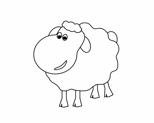 Lamb Clip Art  Drawn By Chris Brown 2009