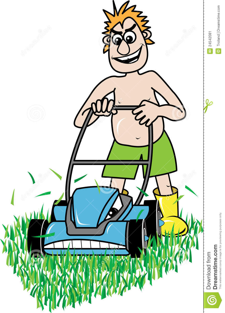 Man Mowing Lawn Clipart Lawn Mowing