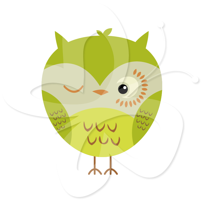 Owl Tree Clip Art Set
