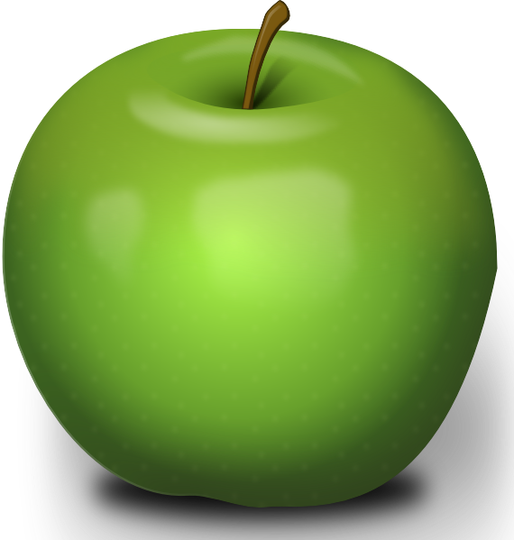 Photorealistic Green Apple Clip Art At Clker Com   Vector Clip Art