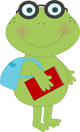 School Frog Clipart - Clipart Kid