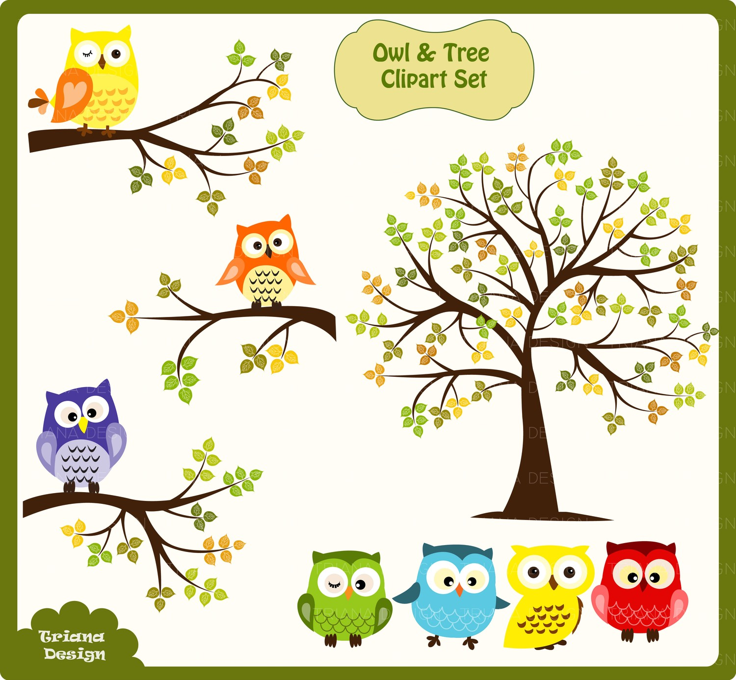 Tree Owl Clipart Pictures
