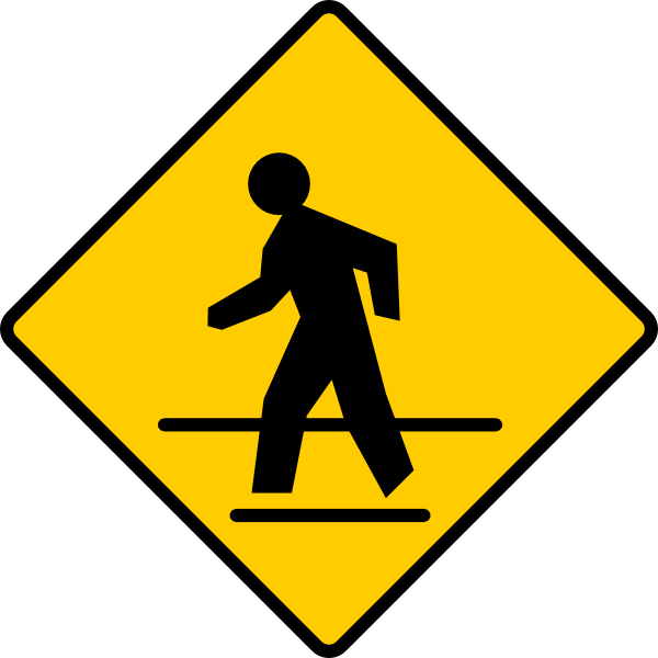Us Crosswalk Sign Clip Art At Clker Com   Vector Clip Art Online