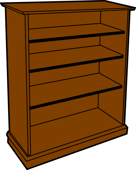 Bookshelves Clip Art ~ Bookcase clipart suggest