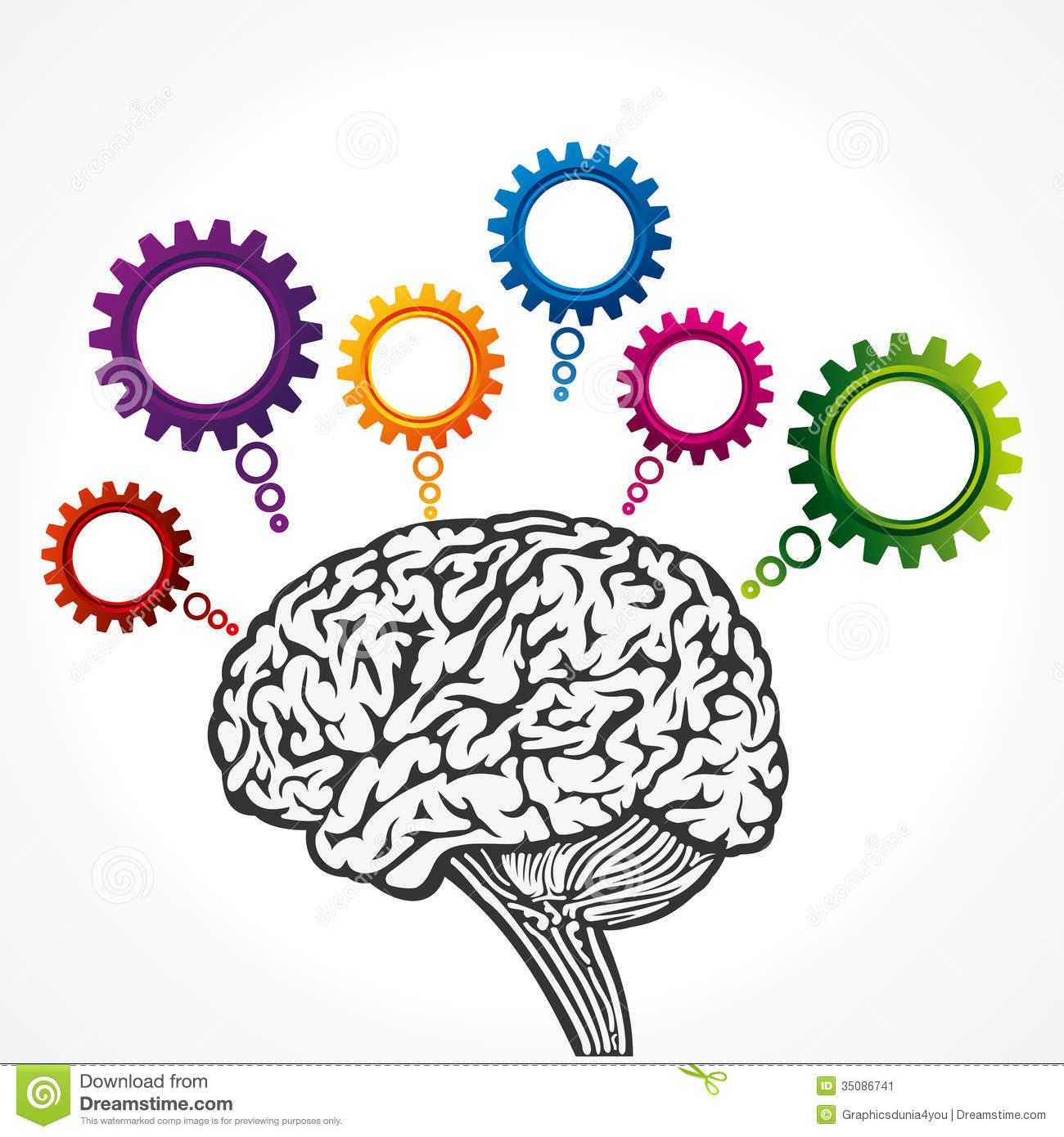 Brain Thinking Clipart - Clipart Kid