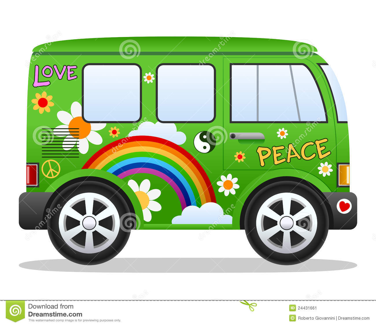Green Hippie Van Clipart Suggest