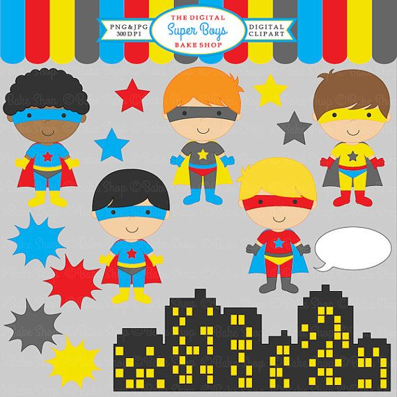 Clipart Digital Clip Art Super Hero Boys   Super Boys Clipart