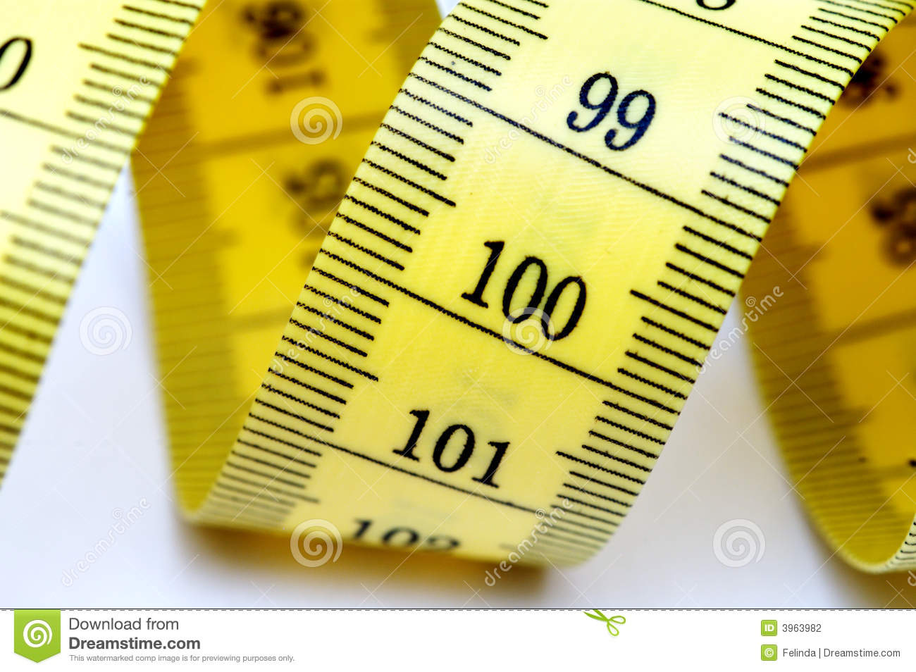 Closeup Of Measuring Tape Isolated On White Background