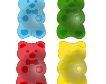 Clip Art Gummy Bear Clipart gummy bear bite clipart kid bears etsy